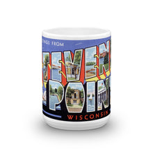 Greetings from Stevens Point Wisconsin Unique Coffee Mug, Coffee Cup