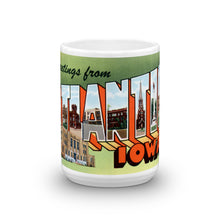 Greetings from Atlantic Iowa Unique Coffee Mug, Coffee Cup