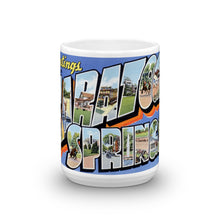 Greetings from Saratoga Springs New York Unique Coffee Mug, Coffee Cup