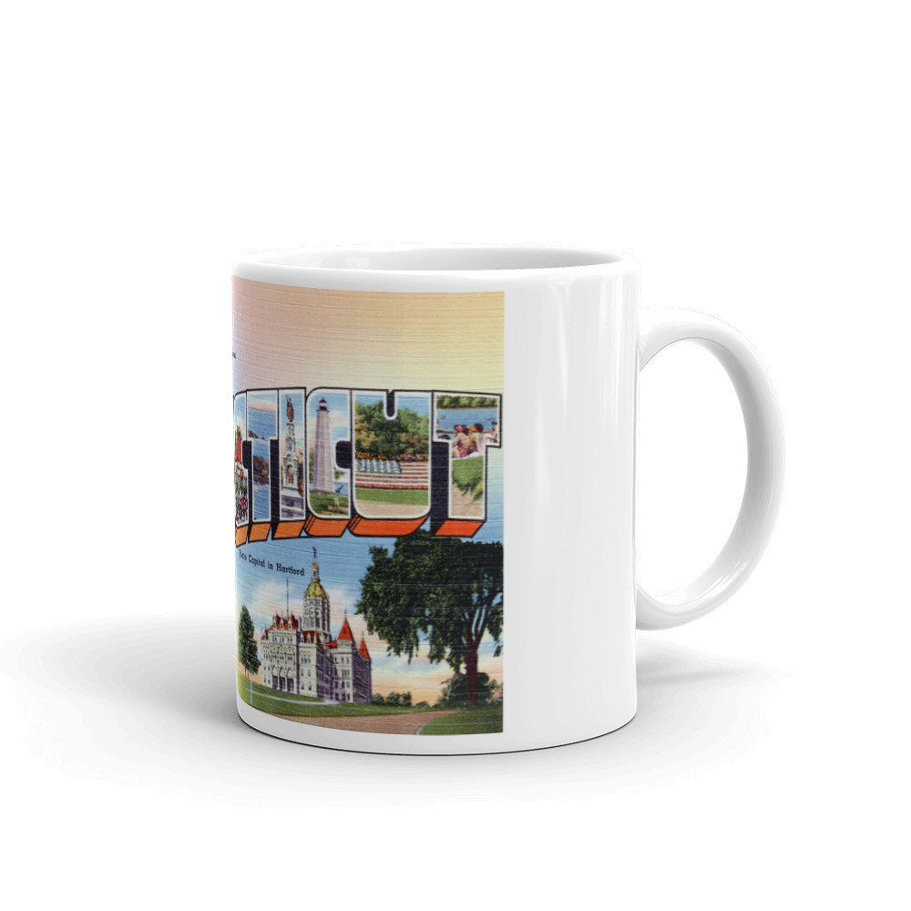 Greetings from Connecticut Unique Coffee Mug, Coffee Cup