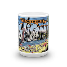 Greetings from Southern California Unique Coffee Mug, Coffee Cup