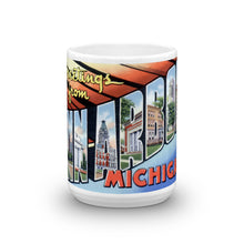 Greetings from Ann Arbor Michigan Unique Coffee Mug, Coffee Cup 1