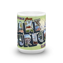 Greetings from Lake Zurich Illinois Unique Coffee Mug, Coffee Cup