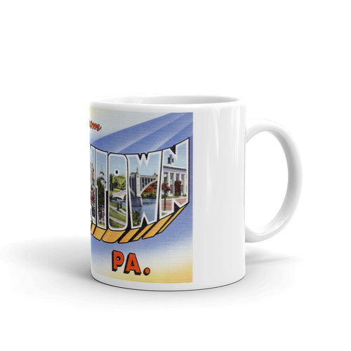 Greetings from Allentown Pennsylvania Unique Coffee Mug, Coffee Cup