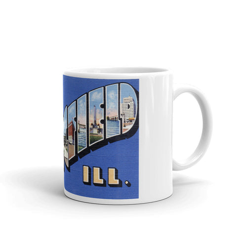 Greetings from Springfield Illinois Unique Coffee Mug, Coffee Cup
