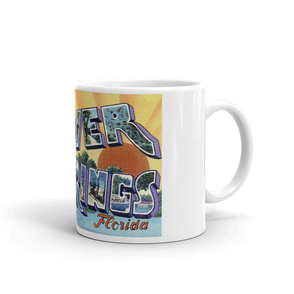 Greetings from Silver Springs Florida Unique Coffee Mug, Coffee Cup