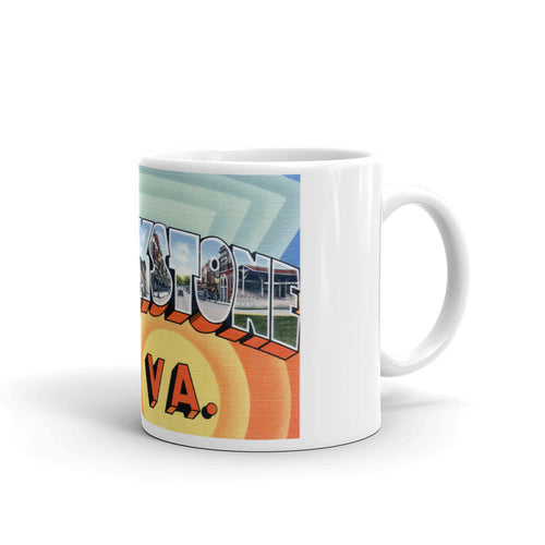 Greetings from Blackstone Virginia Unique Coffee Mug, Coffee Cup
