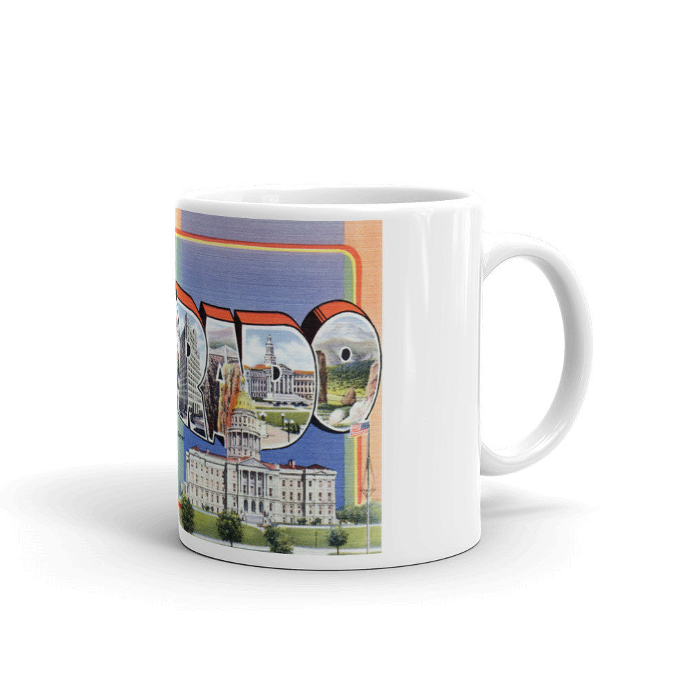Greetings from Colorado Unique Coffee Mug, Coffee Cup 1