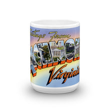 Greetings from Richmond Virginia Unique Coffee Mug, Coffee Cup