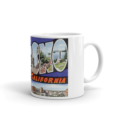 Greetings from Fresno California Unique Coffee Mug, Coffee Cup
