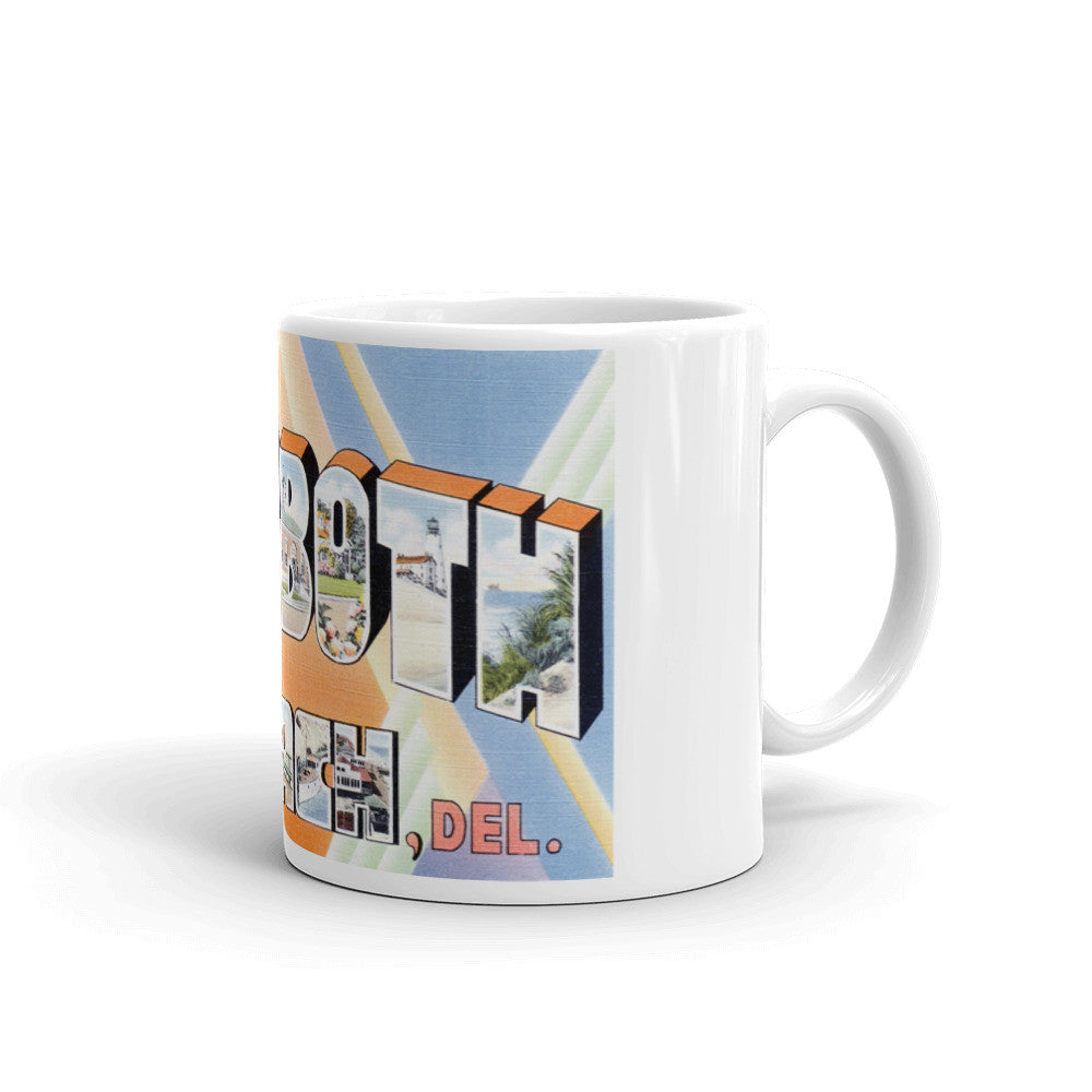 Greetings from Rehoboth Beach Delaware Unique Coffee Mug, Coffee Cup