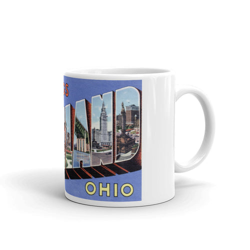 Greetings from Cleveland Ohio Unique Coffee Mug, Coffee Cup 2