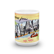 Greetings from Havana Cuba Unique Coffee Mug, Coffee Cup