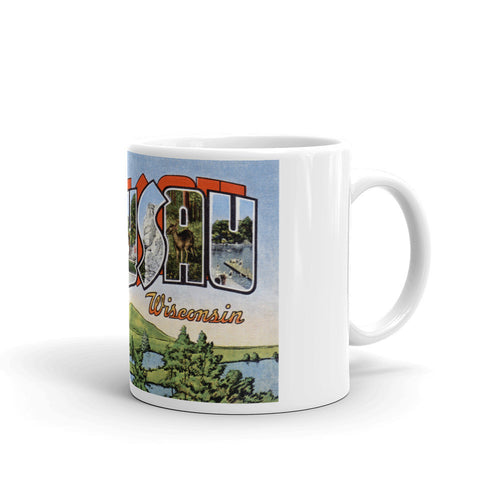 Greetings from Wausau Wisconsin Unique Coffee Mug, Coffee Cup