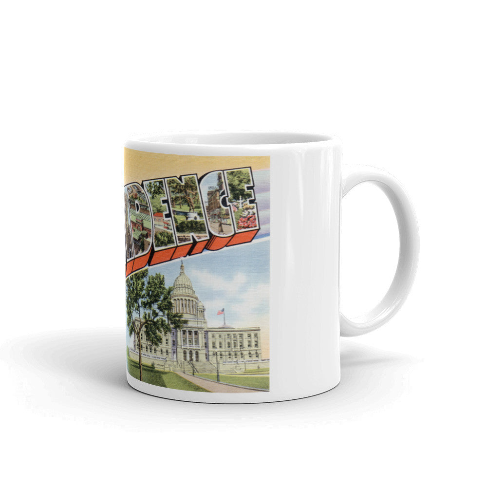 Greetings from Providence Rhode Island Unique Coffee Mug, Coffee Cup 2