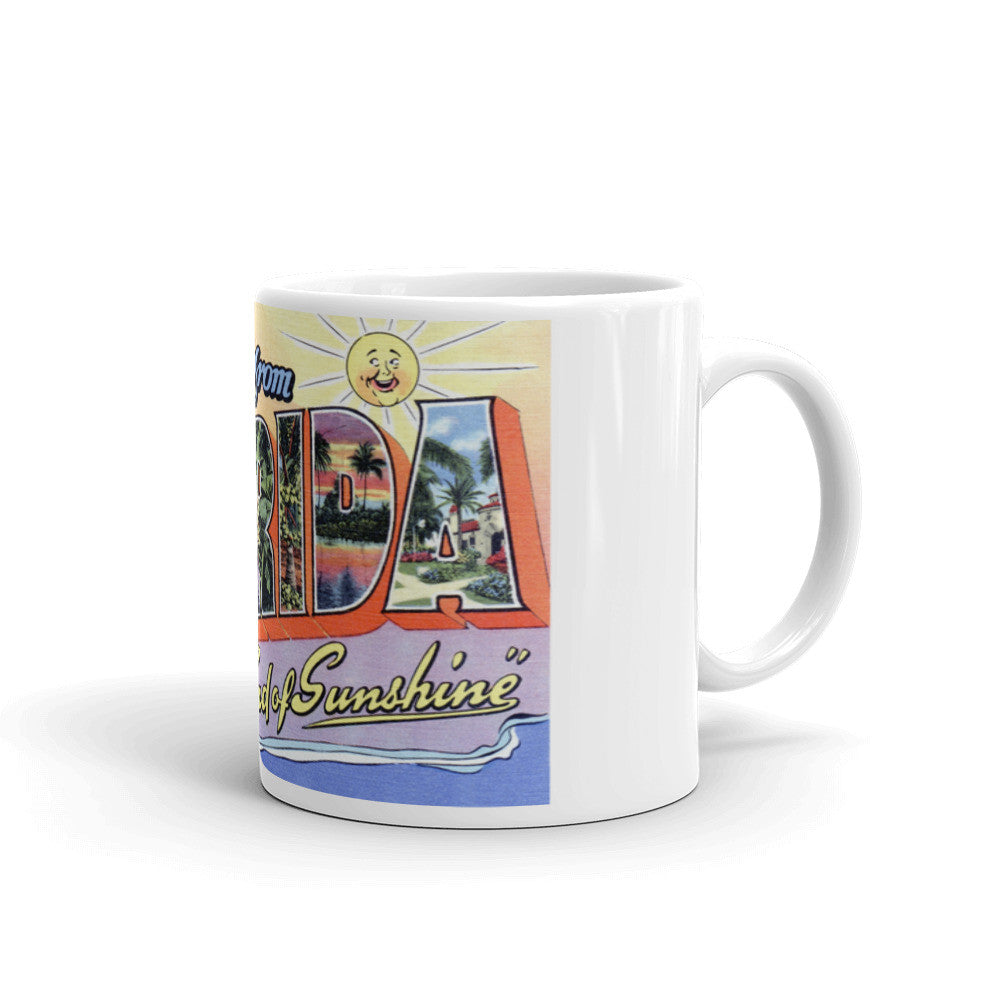 Greetings from Florida Unique Coffee Mug, Coffee Cup 3