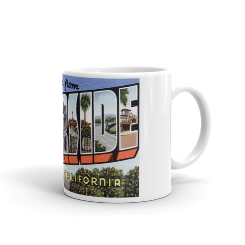 Greetings from Riverside California Unique Coffee Mug, Coffee Cup