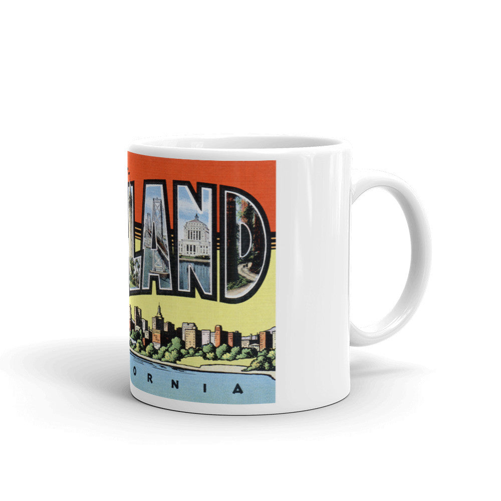 Greetings from Oakland California Unique Coffee Mug, Coffee Cup 3