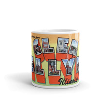 Greetings from Glen Ellyn Illinois Unique Coffee Mug, Coffee Cup
