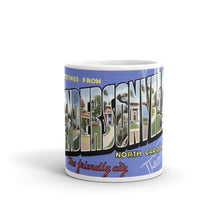 Greetings from Hendersonville North Carolina Unique Coffee Mug, Coffee Cup
