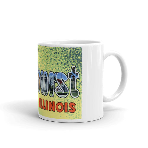 Greetings from Elmhurst Illinois Unique Coffee Mug, Coffee Cup