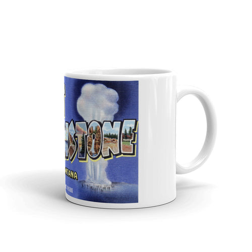 Greetings from West Yellowstone Montana Unique Coffee Mug, Coffee Cup