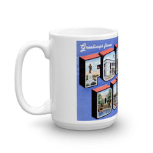 Greetings from Fond Du Lac Wisconsin Unique Coffee Mug, Coffee Cup
