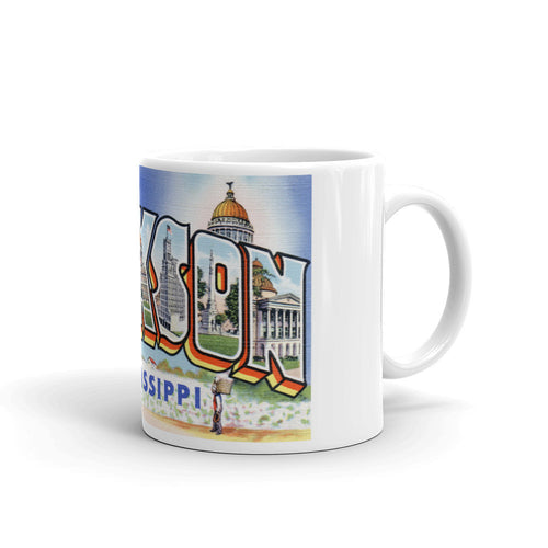 Greetings from Jackson Mississippi Unique Coffee Mug, Coffee Cup