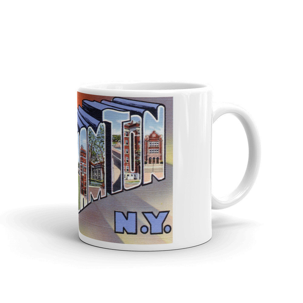 Greetings from Binghamton New York Unique Coffee Mug, Coffee Cup