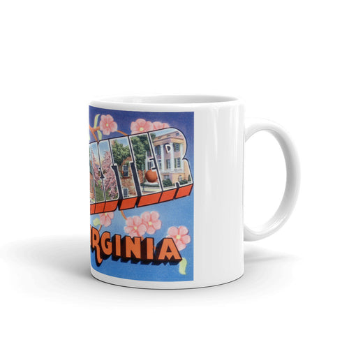 Greetings from Winchester Virginia Unique Coffee Mug, Coffee Cup