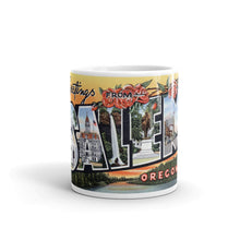 Greetings from Salem Oregon Unique Coffee Mug, Coffee Cup