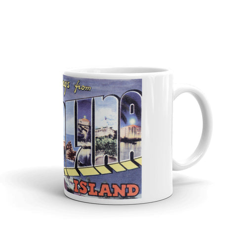 Greetings from Catalina Island California Unique Coffee Mug, Coffee Cup