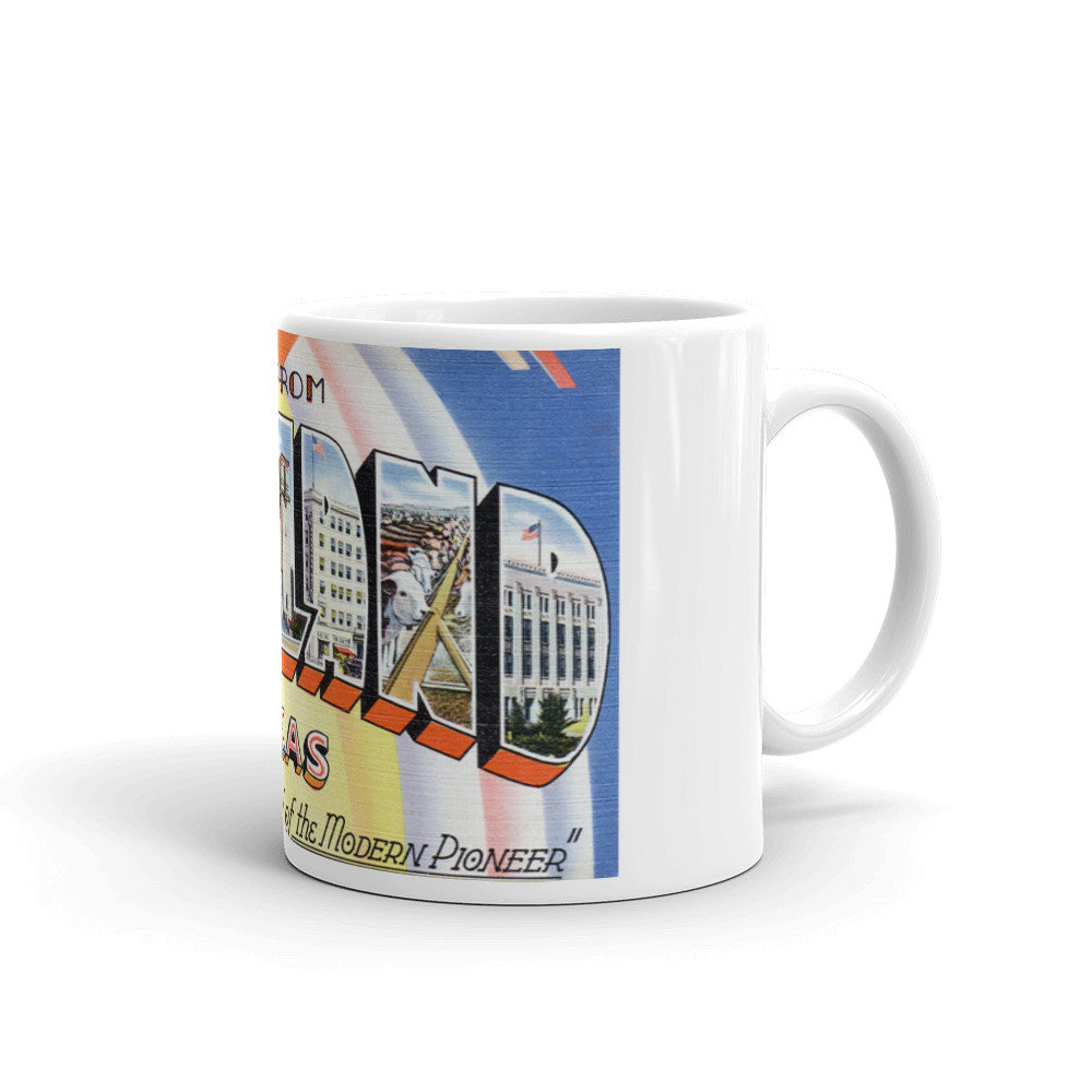 Greetings from Midland Texas Unique Coffee Mug, Coffee Cup