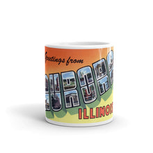 Greetings from Aurora Illinois Unique Coffee Mug, Coffee Cup 2
