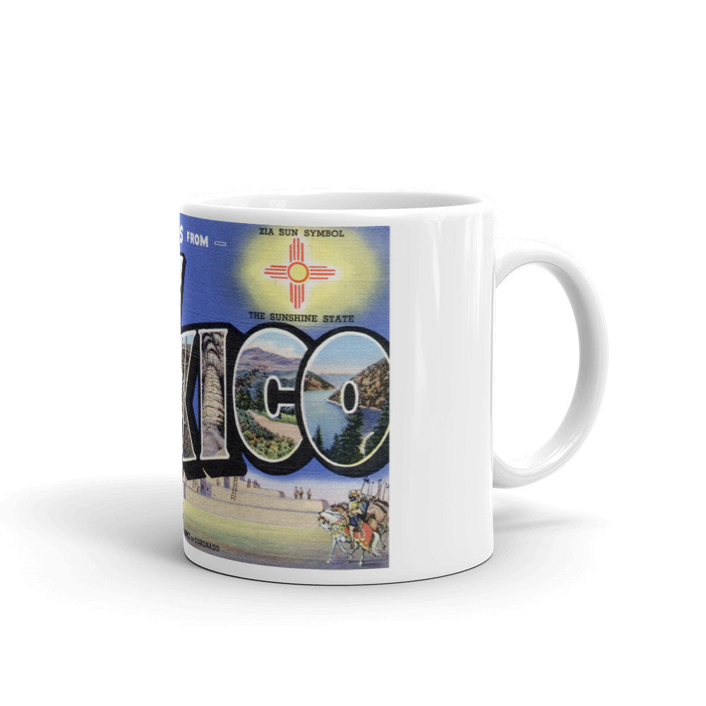 Greetings from New Mexico Unique Coffee Mug, Coffee Cup 3