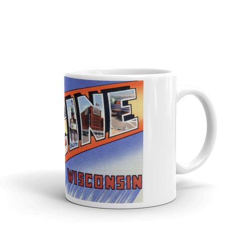 Greetings from Racine Wisconsin Unique Coffee Mug, Coffee Cup