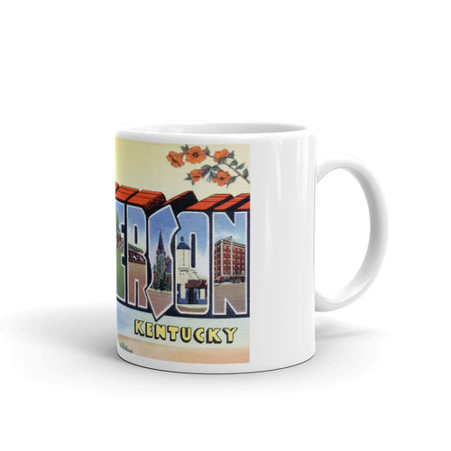 Greetings from Henderson Kentucky Unique Coffee Mug, Coffee Cup