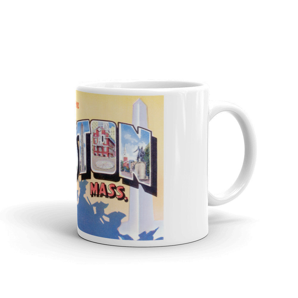 Greetings from Boston Massachusetts Unique Coffee Mug, Coffee Cup 2