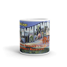 Greetings from Waynesville North Carolina Unique Coffee Mug, Coffee Cup