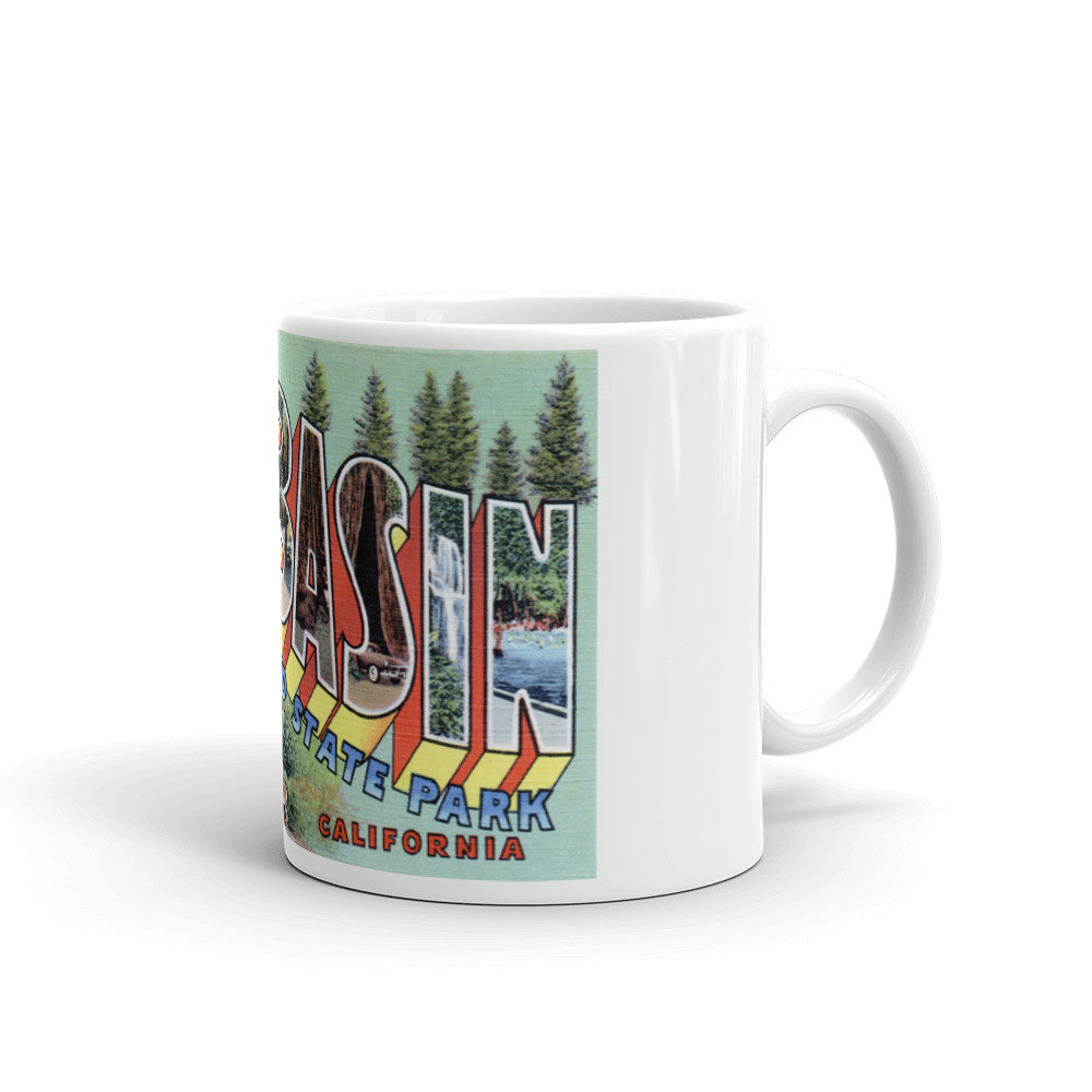 Greetings from Big Basin California Unique Coffee Mug, Coffee Cup