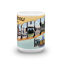 Greetings from Augusta Maine Unique Coffee Mug, Coffee Cup 2