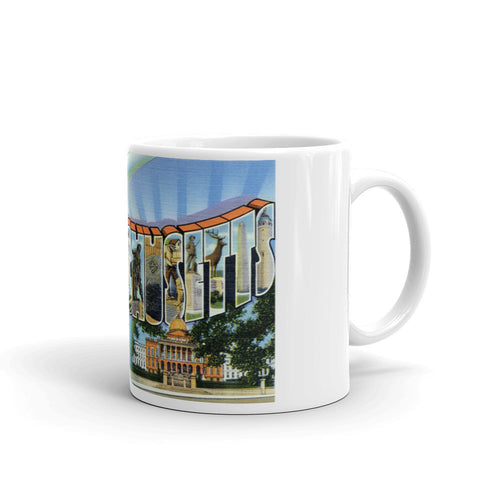 Greetings from Massachusetts Unique Coffee Mug, Coffee Cup 1