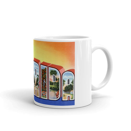Greetings from Florida Unique Coffee Mug, Coffee Cup 4