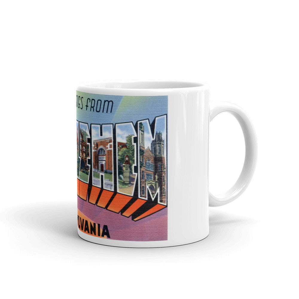 Greetings from Bethlehem Pennsylvania Unique Coffee Mug, Coffee Cup
