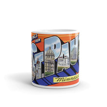 Greetings from St Paul Minnesota Unique Coffee Mug, Coffee Cup 1