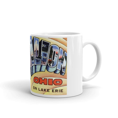Greetings from Vermilion Ohio Unique Coffee Mug, Coffee Cup