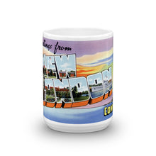 Greetings from New London Connecticut Unique Coffee Mug, Coffee Cup