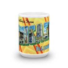 Greetings from Chicago Illinois Unique Coffee Mug, Coffee Cup 2