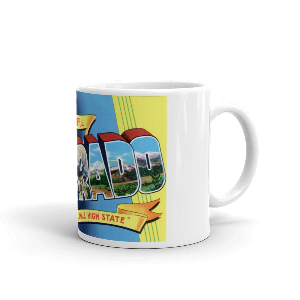 Greetings from Colorado Unique Coffee Mug, Coffee Cup 2