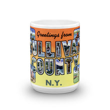 Greetings from Sullivan County New York Unique Coffee Mug, Coffee Cup